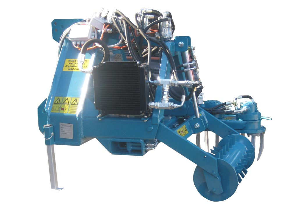 Macchina agricola per lavorazione vigneti - scalzatrice Doppio rotore